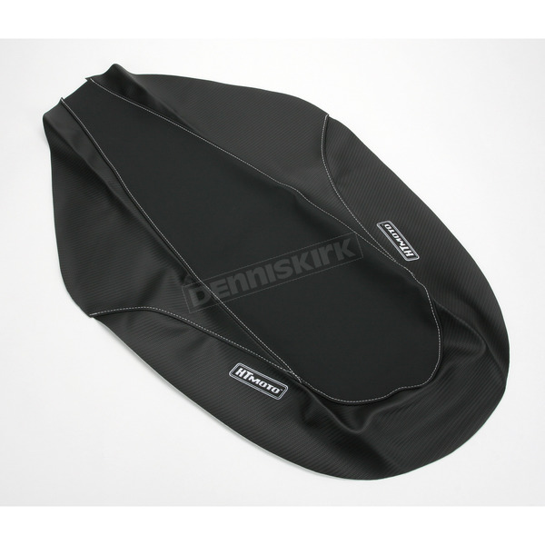 HT Moto ATV Black Carbon Fiber Seat Cover - ATV-Y06-BLK