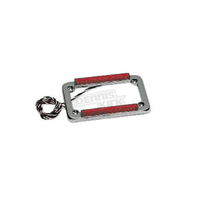Back Off Chrome License Plate Frame w/ Dual-Row LED - 02028