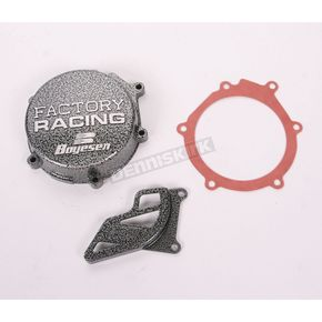 Boyesen Factory Racing Ignition Cover-Silver Vein - SC-10C