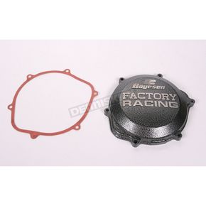 Boyesen Factory Racing Black/Silver Clutch Cover - CC-06
