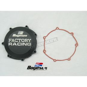 Factory Racing Black Clutch Cover - CC-38B