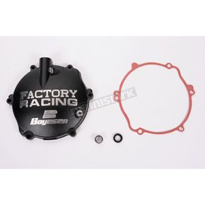 Factory Racing Black Clutch Cover - CC-31B
