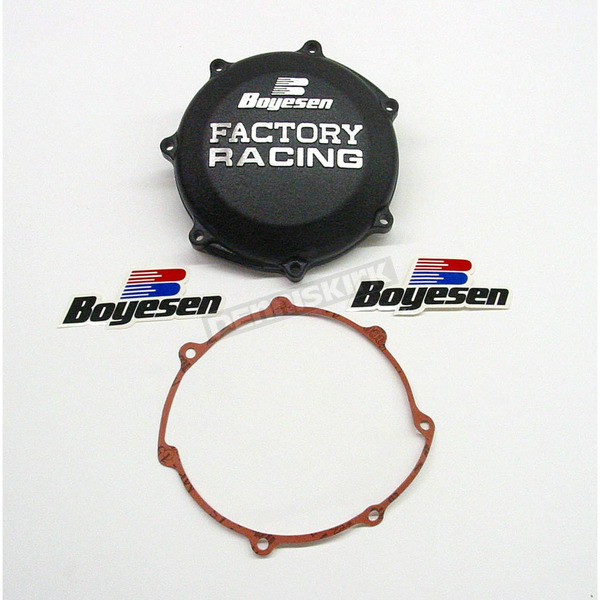 Boyesen Factory Racing Black Clutch Cover - CC-37B