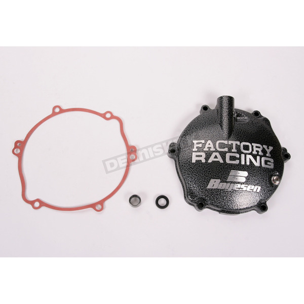Boyesen Factory Racing Black/Silver Clutch Cover - CC-31