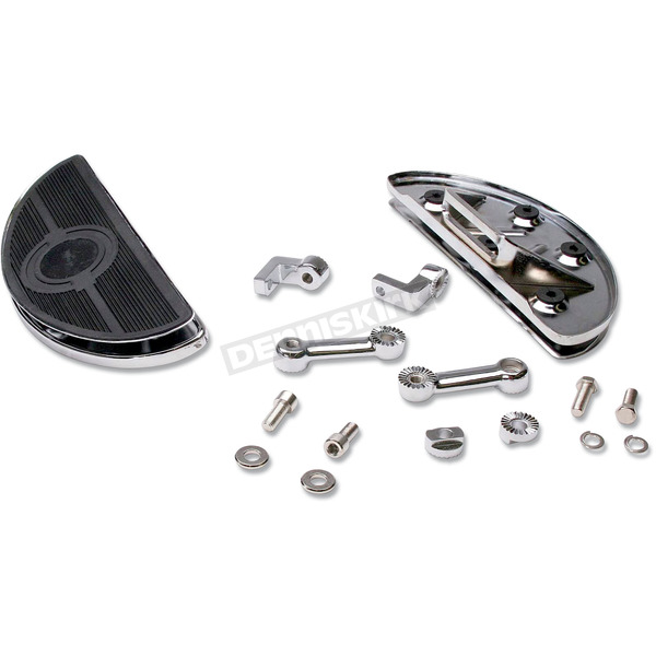 Custom Chrome Shaker Oval Floorboard Kit - 26568