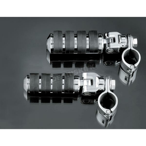 Kuryakyn Large ISO-Pegs with Clevis & 1 in. Clamps - 8031