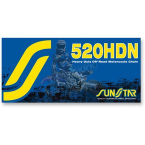 Sunstar 520HDN Heavy Duty Non-Sealed Off Road Motorcycle Chain - SS520HDN-120