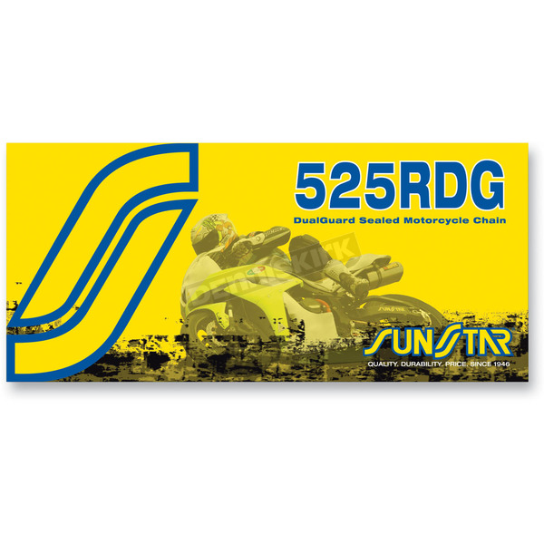 Sunstar SS525RDG Dualguard Sealed Motorcycle Chain - SS525RDG-112