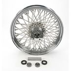 Chrome 16 x 3.5 80-Spoke Laced Wheel Assembly - 0204-0072