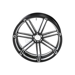 Black 7 Valve 21x3.50 in. Front Forged Billet Wheel - 10301-204