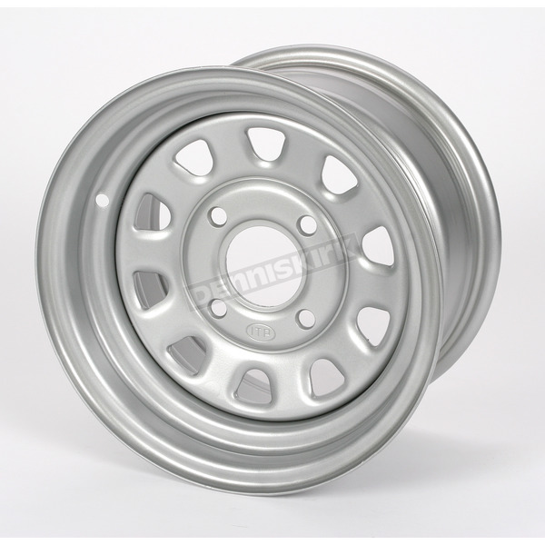 ITP Large Bell Delta Silver Steel Wheel - 1225553032