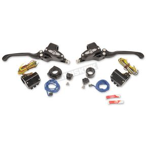 Performance Machine Black Complete Handlebar Control Kit w/Hydraulic Clutch - 0062-4020-BM