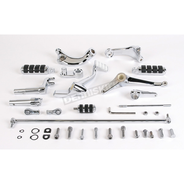 Drag Specialties Chrome Forward Control Kit - +2 in. Extended - 1622-0141