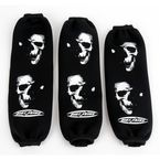 Black Fading Skull Front and Rear Shock Covers - DS01-1L