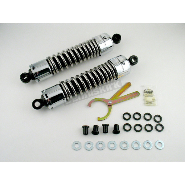 Progressive Suspension Chrome 412 Series American-Tuned Gas Shocks w/o Cover - 160/190 Spring Rate (lbs/in) - 412-4018C