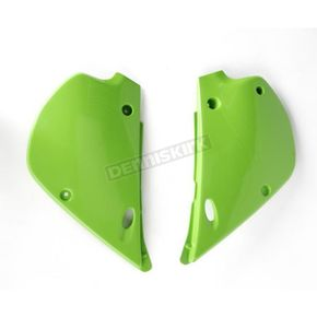 UFO Kawasaki KX Green Side Panels - KA02760-026