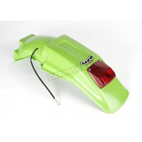UFO KX Green Enduro Rear Fenders w/LED Light - KA03791-026