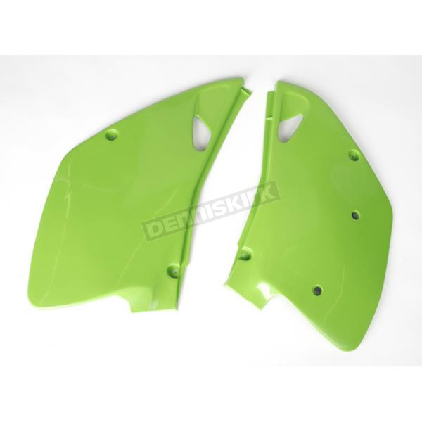 UFO Kawasaki KX Green Side Panels - KA02745026