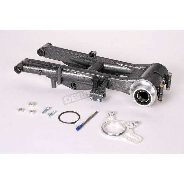 Lonestar Racing Silver +4 in. Rear Swingarm - 15-3611041121