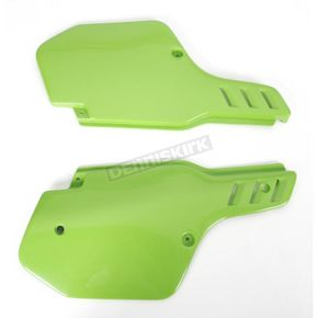 UFO Kawasaki KX Green Side Panels - KA02713-026