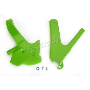 UFO Kawasaki KX Green Frame Guards - KA02797-026