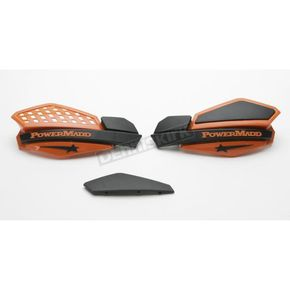 PowerMadd Star Series Black/Orange Handguard System    - 34205