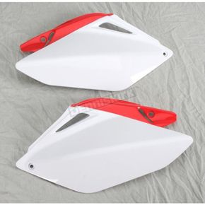 Acerbis Red/White Side Panels/Rear Number Plate - 2043240215