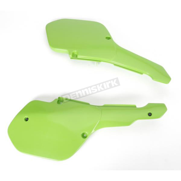 UFO Kawasaki KX Green Side Panels - KA02704-026
