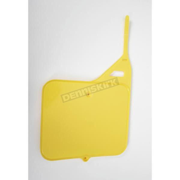 UFO Front RM Yellow Number Plate - SU02910-101