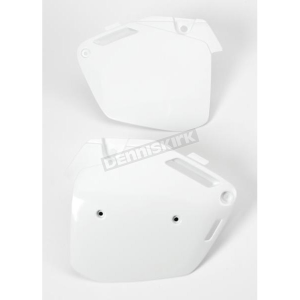Acerbis White Side Panels/Rear Number Plate - 2043260002