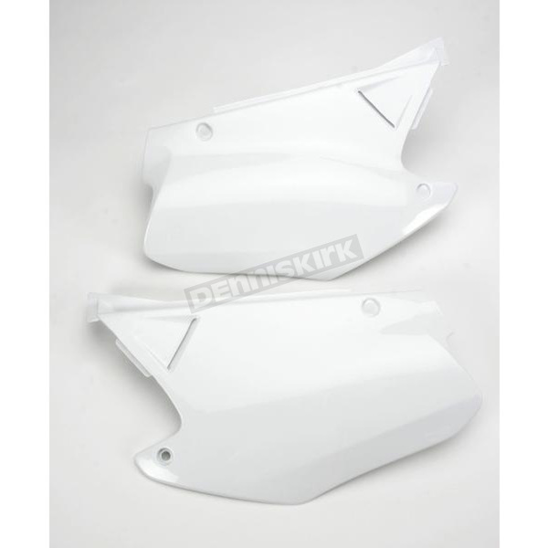 Acerbis White Side Panels/Rear Number Plate - 2043250002