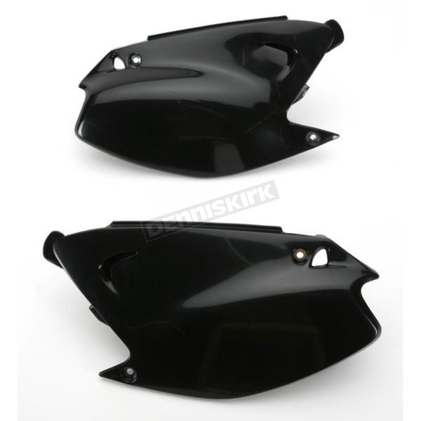 UFO Kawasaki Black Side Panels - KA03739-001