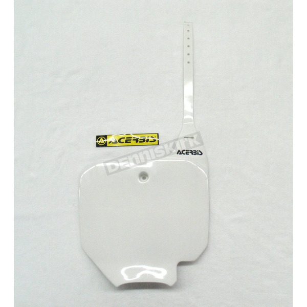 Acerbis Front White Number Plate - 2042230002