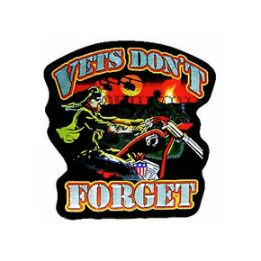 Mustang Vets Dont Forget Embroidered Patch - 62802