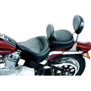 Mustang Seats 17 1/2 in. Wide Vintage Solo Seat w/Removable Backrest - 79124