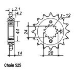 17 Tooth Sprocket - JTF1372.17