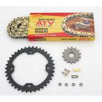 520 Quad Z-Ring Chain and Sprocket Kit - 5QUAD096KYA0