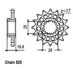 Front Sprocket - JTF704.15