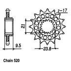 15 Tooth Sprocket - JTF284.15