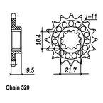 14 Tooth Sprocket - JTF285.14