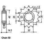 530 16 Tooth Sprocket - JTF339.16