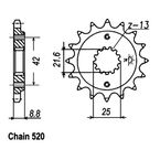 520 14 Tooth Sprocket - JTF512.14