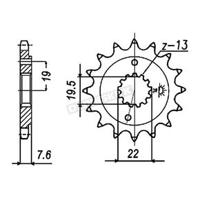 JT Sprockets Sprocket - JTF1401.13