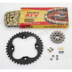 Regina 520 Quad Z-Ring Chain and Sprocket Kit - 5QUAD094KHO003