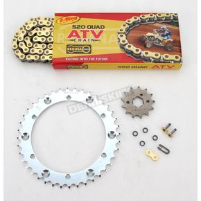 Regina 520 Quad Z-Ring Chain and Sprocket Kit - 5QUAD098KYA002