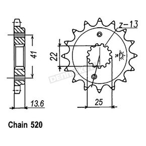 JT Sprockets Sprocket - JTF1307.14