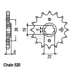 JT Sprockets Sprocket - JTF1336.14