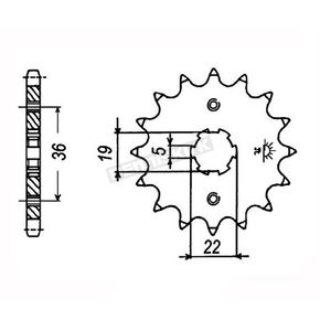 JT Sprockets Sprocket - JTF1352.14
