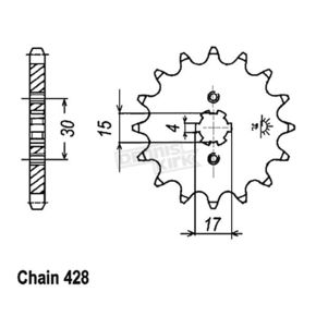 JT Sprockets 428 14 Tooth Sprocket - JTF274.14