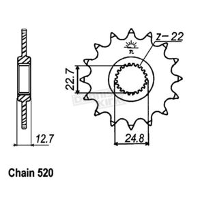 JT Sprockets 22 Tooth Center Outer Sprocket - JTF3323.22
